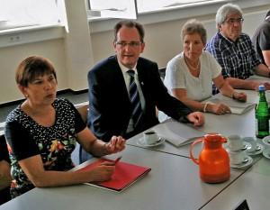 Bundestagsabgeordneter Dr. Lars Castellucci und SPD-Kreistagfraktion Rhein-Neckar zu Besuch im Beruflichen Trainingszentrum (BTZ) Wiesloch