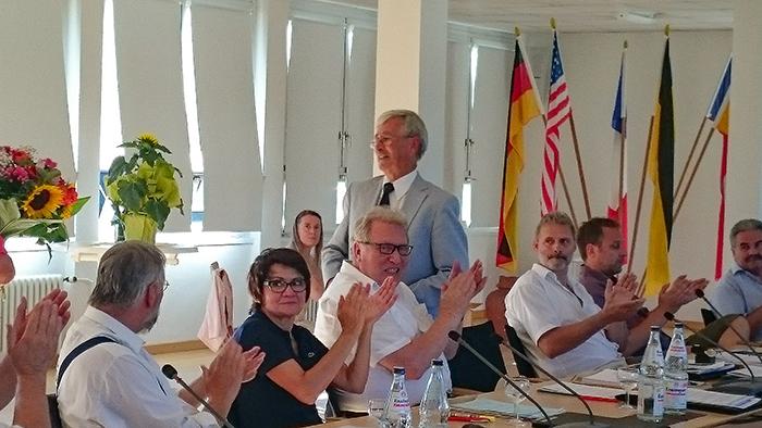 Goldener Ehrenring für Stadtrat Winfried Schimpf